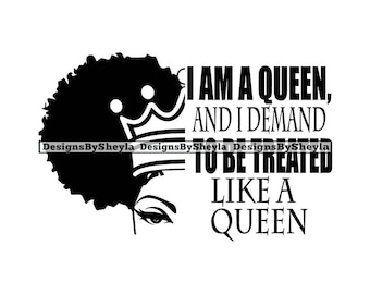 I Am Queen Quote Etsy