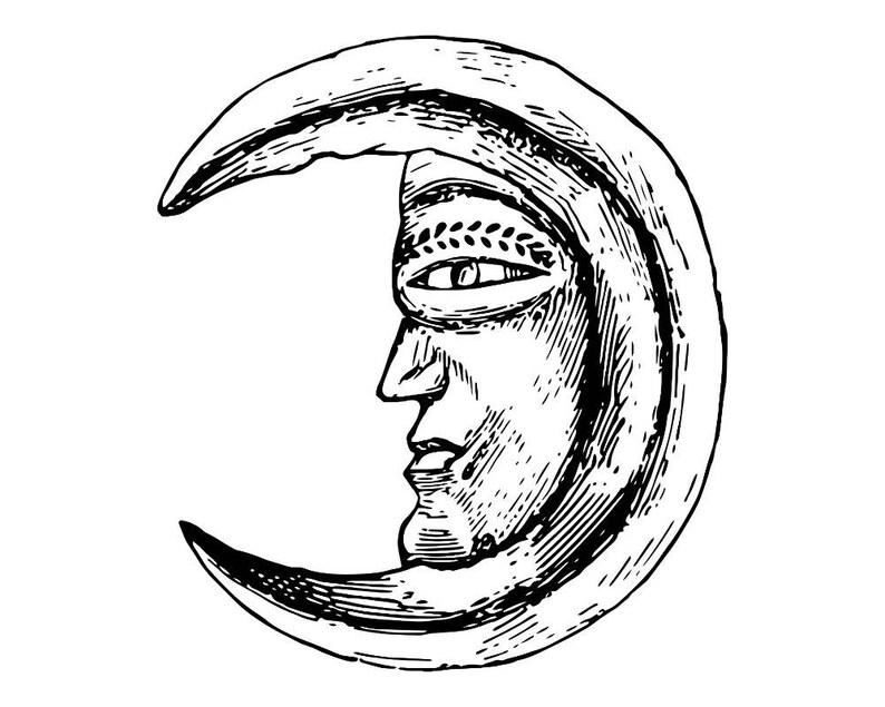 Moon Sky Night Background Moonlight Lunar Galaxy Illustration