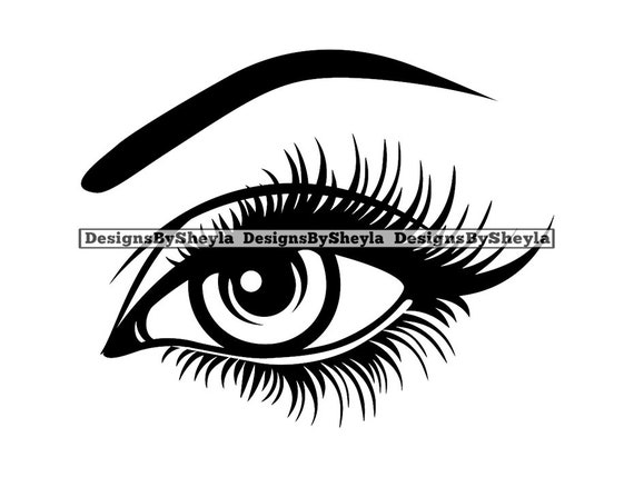 Womans Sexy Luxurious Eyes Full Lashes Eyebrows Beautiful Etsy