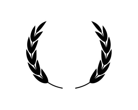 wreath laurel vector award icon frame illustration symbol