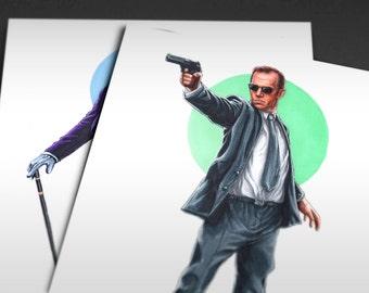 The Matrix | Agent Smith Iconicharacter Art Print