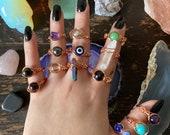 Crystal Rings, Wire Wrapped Rings, Gemstone Rings