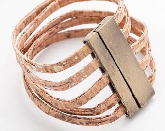 Cork Wrap Bracelet, Wrap bracelet, Wrap bracelet for women