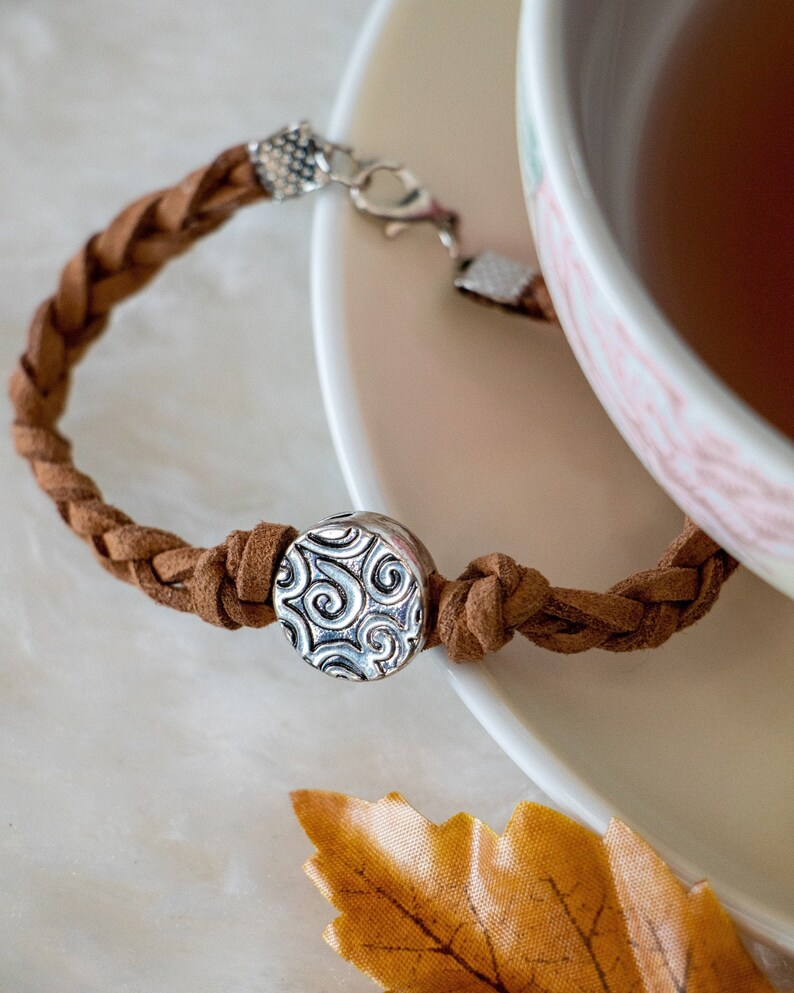 Bracelet brown leather bracelet women bracelet women gift image 0