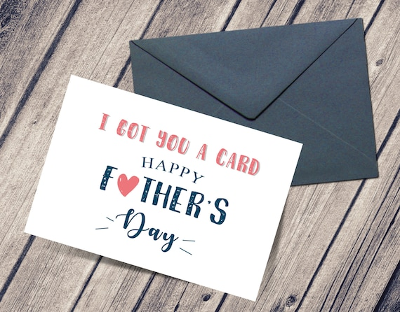 Printable Father S Day Card Happy Father S Day 5x7 Etsy