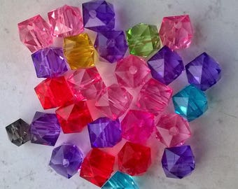 Set of 75 multicolored cubes