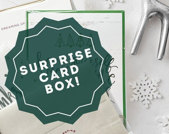 Holiday Greeting Cards Surprise Set, Set of Christmas Cards, Holiday Cards Surprise Set
