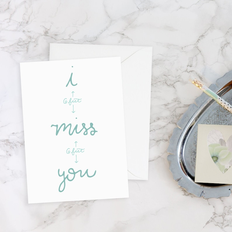 I Miss You Social Distance Card Long Distance Mom I Miss You image 0