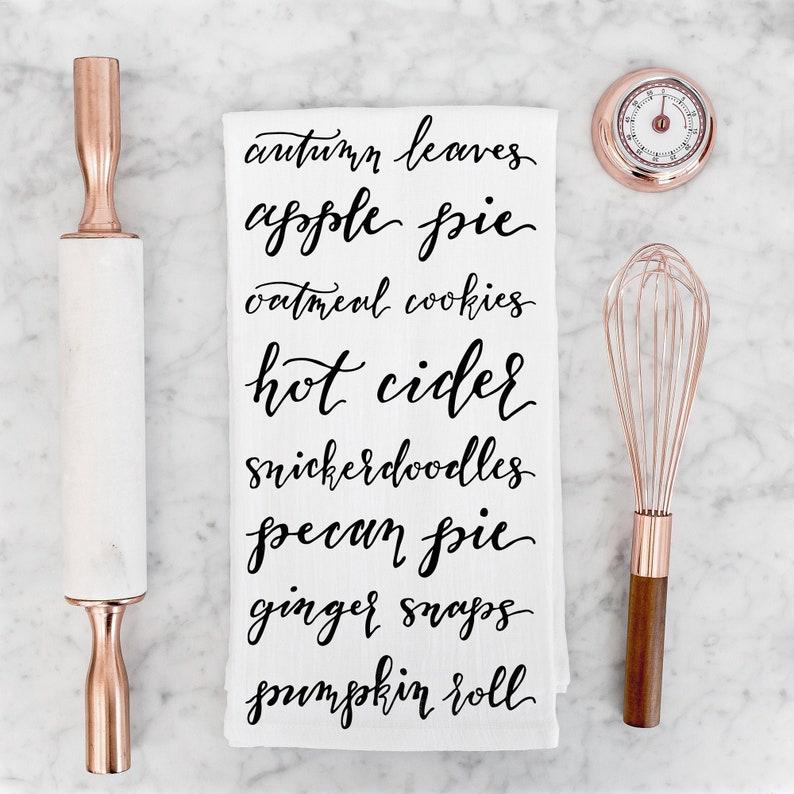 Autumn Decorations Tea Towel Flour Sack Towels image 0