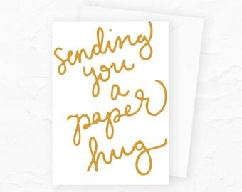 Paper Hug Social Distancing Card, Long Distance Mom Hug Card