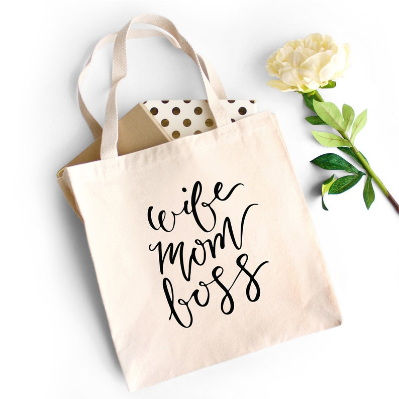 Canvas Tote Bag Gift for Mom Canvas Bag Gift for Her Wife image 0