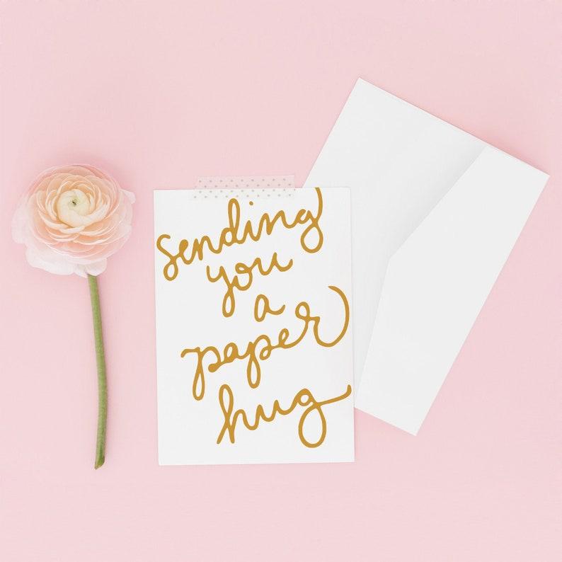 Paper Hug Social Distancing Card Long Distance Mom Hug Card image 0