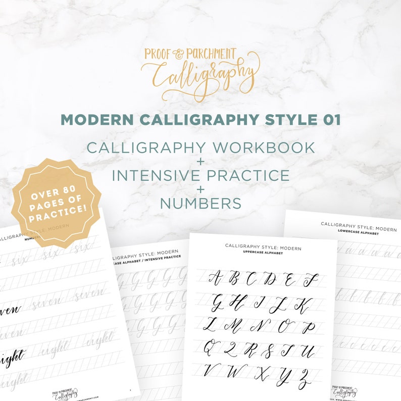 Modern Calligraphy Letters Practice Worksheets Modern image 0