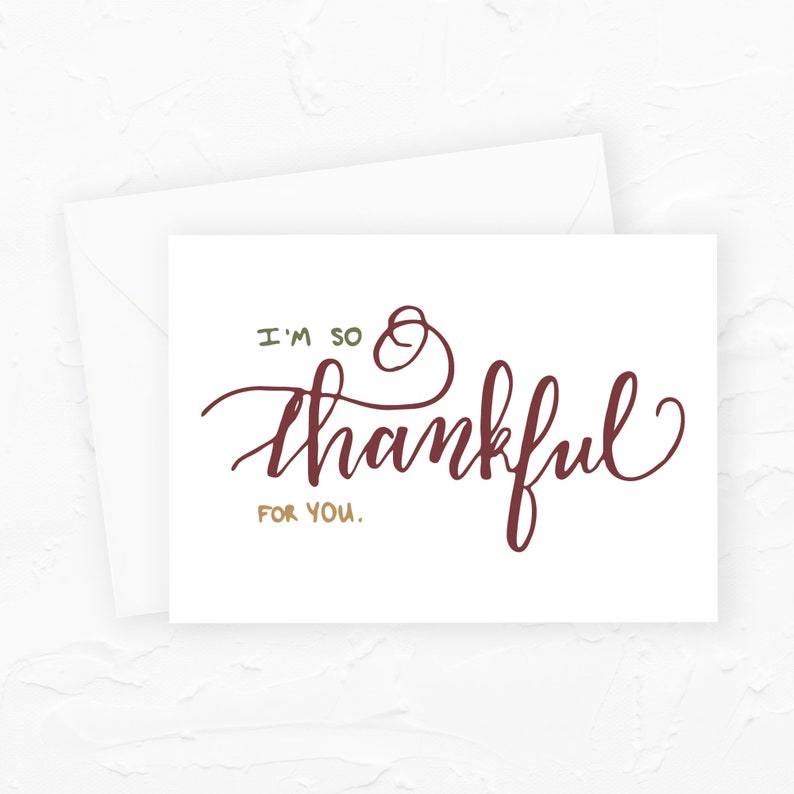 Thankful Card I'm So Thankful For You Greeting Card image 0
