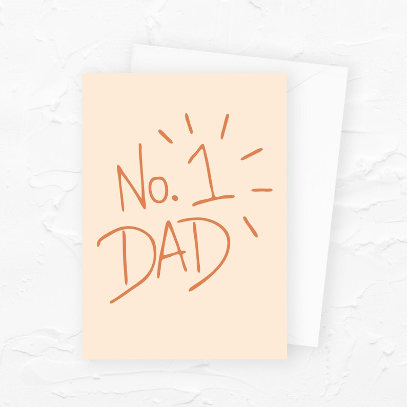 Number 1 Dad Fathers Day Card No. 1 Dad Funny Fathers Day image 0