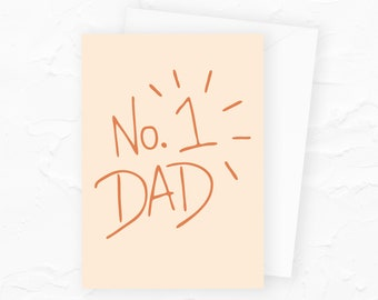 Number 1 Dad Fathers Day Card, No. 1 Dad Funny Fathers Day Card