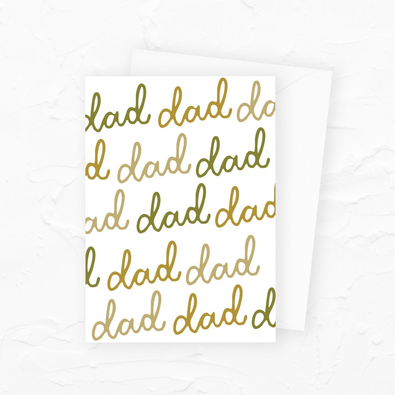 Dad dad dad dad Funny Fathers Day Card Fathers Day Card image 0