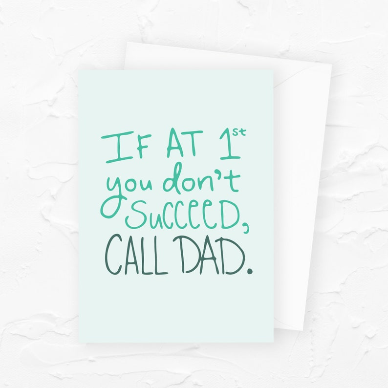 Call Dad Fathers Day Card Funny Fathers Day Card image 0