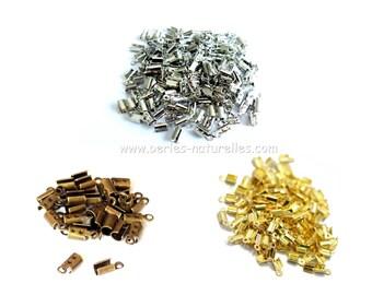 10 or 100 Cord Ends 2mm Terminators Bronze