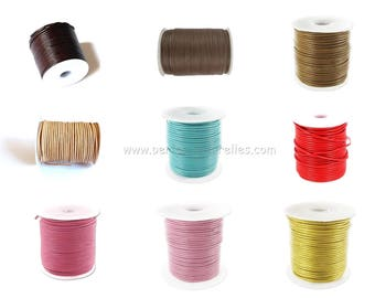 1mm Leather Cord - 1/10/100m - Choice the Color