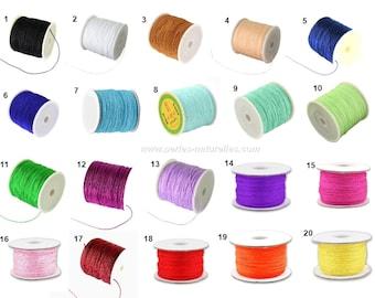 0.8mm - Choose Color - 10m or 20m Nylon Thread
