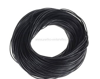 Black Leather Cord - 1mm, 2mm or 3mm - 1/10/50/100m