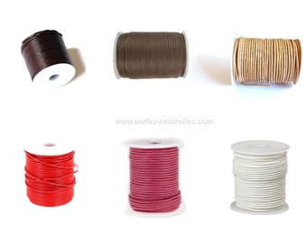 2mm Leather Cord - 1/10/50/100m - Choice the Color