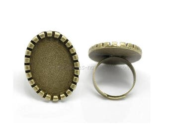 25x18mm - Bronze - Ring for cabochon