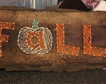 Fall string art sign