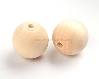 30mm - 100 or 500 raw wood beads