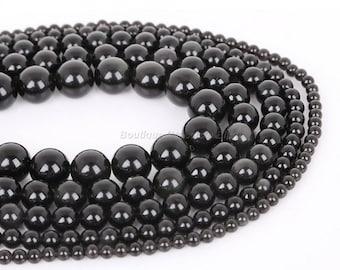 6/8 / 10mm - Obsidian - 100 or 500 Obsidian beads