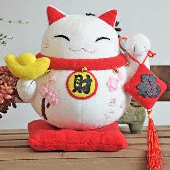 Diy Kit Japanese Style Lucky Cat Stuffed Toy Plush Toy Stuffed