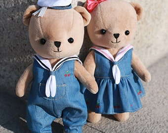 DIY Kit Sailor Teddy Bear Stuffed Toy/Plush toy/Stuffed animals/Soft toy/Plushies/snuggies/stuffies/snuggled animals/cuddly toys