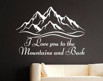 Rustic Wall Decor Travel Wall Art Decor Wanderlust  Wall Decal Home Decor Vinyl Stickers Nursery SM240 Mountains Decals