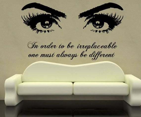 make up eyes quote wall vinyl decal quote stickers eye | etsy