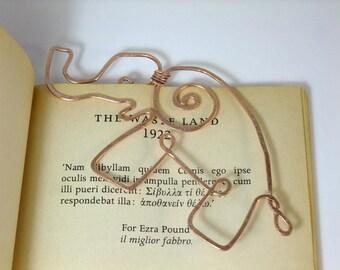 Copper wire elephant bookmark - Copper wire bookmark, elephant bookmark - ideal gender neutral gift