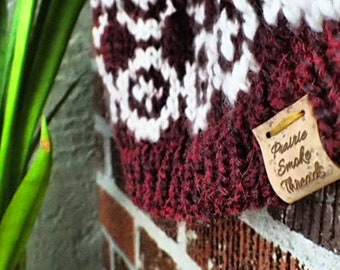 Bean & Bear Beanie - Chunky, Handknit Hat