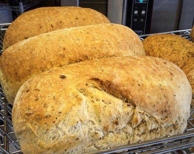 Low sodium Mediterranean herb bread 2 loaves or 12 rolls Made with no salt but very flavorful with lots of herbs. Great for low sodium diet.