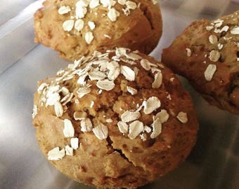 Low sodium muffin tops made with gluten-free ingredients, box of 6
