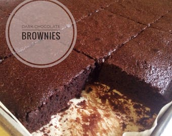 8 Low sodium dark chocolate fudgy brownies