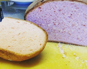 Low sodium/salt-free vanilla rose bread Two loaves or 12 rolls, fragrant and pink!  Made with rose water