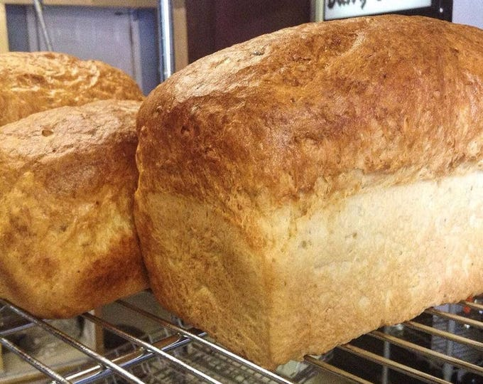 Low sodium multigrain bread 2 loaves or 12 rolls.  Made with no salt and our own mix of whole grains.  Hearty and heart healthy!