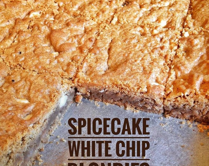 Low sodium spicecake, white chip blondies, 8 in a box.  Delicious, salt-free treat with chocolate chips or white chips (or no chips).
