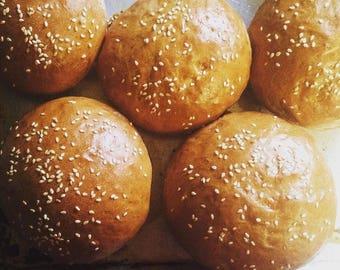 Low sodium/salt-free hamburger buns