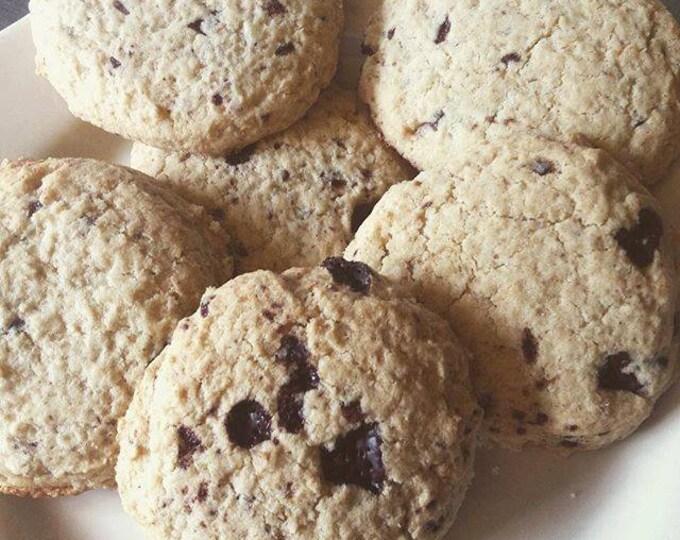Low sodium (no salt!) gluten free chocolate chip cookies.  One dozen per order.