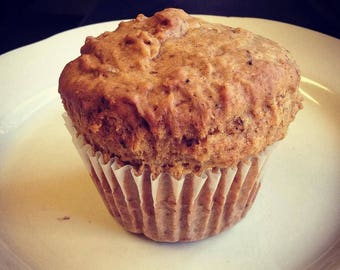 Six large, low sodium Chai Spice muffins.  Made with no salt.  Big, bakery-style muffins!  Made with our own authentic masala chai blend