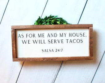 As For Me And My House We Will Serve, Wood Sign, Farmhouse Decor, Kitchen  Wall Sign, Kitchen Wall Decor, Dining Room Wall Decor