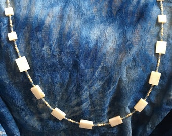Beautiful Mother of Pearl Necklace--Mother of Pearl Shell Necklace--Shell Necklace--Mother of Pearl--Pretty Mother of Pearl