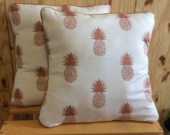 Brass pineapple pillow cover