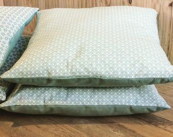 Pillow cover green celadon scales